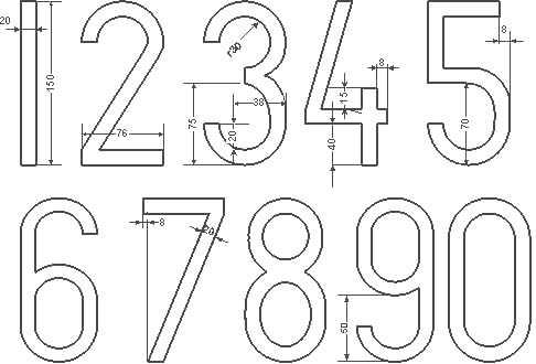 Цифра 4 размеры